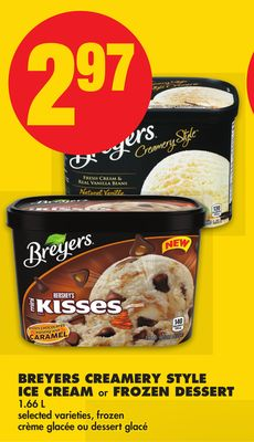 Breyers Creamery Style Ice Cream or Frozen Dessert - 1.66 L