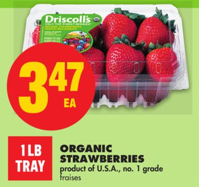 Organic Strawberries - 1 Lb Tray