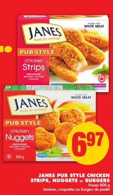 Janes Pub Style Chicken Strips - Nuggets or Burgers - 800 g