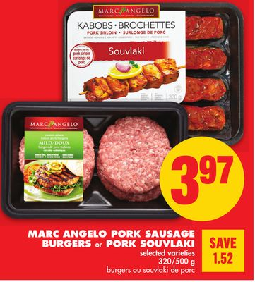Marc Angelo Pork Sausage Burgers or Pork Souvlaki - 320/500 g