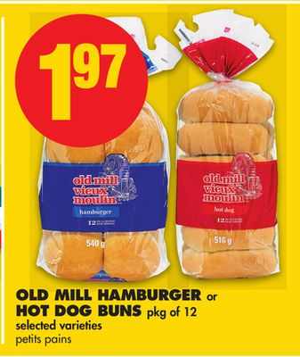Old Mill Hamburger Or Hot Dog Buns - Pkg Of 12
