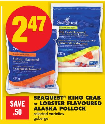 Seaquest King Crab Or Lobster Flavoured Alaska Pollock
