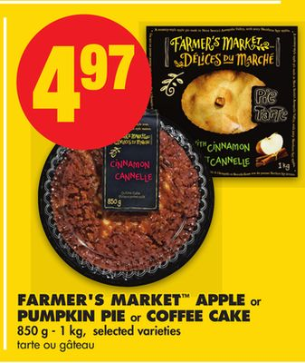 Farmer's Market Apple Or Pumpkin Pie or Coffee Cake - 850 g - 1 Kg
