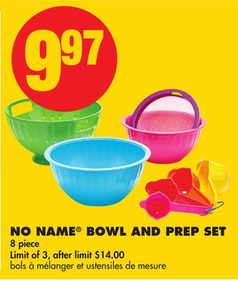 No Name Bowl And Prep Set - 8 Piece