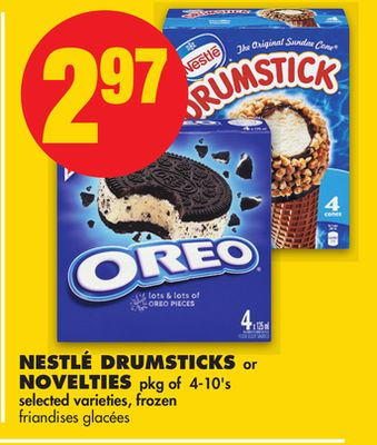 Nestlé Drumsticks or Novelties Pkg of 4-10's
