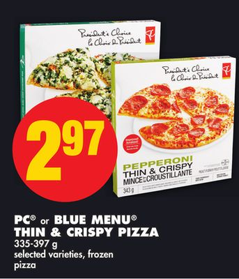 PC Or Blue Menu Thin & Crispy Pizza - 335-397 g