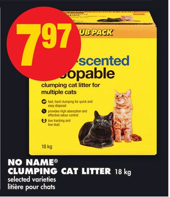No Name Clumping Cat Litter 18 Kg