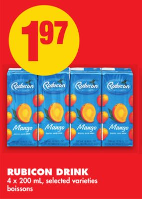 Rubicon Drink - 4 X 200 mL
