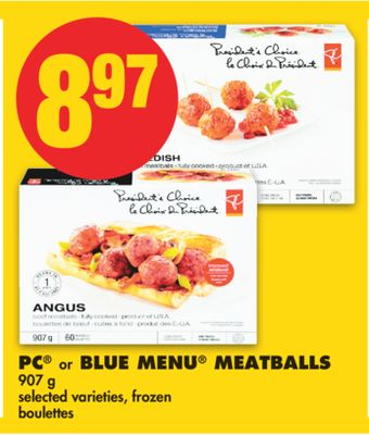 PC or Blue Menu Meatballs - 907 g