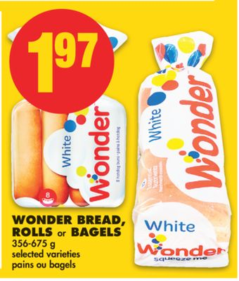 Wonder Bread - Rolls or Bagels - 356-675 g
