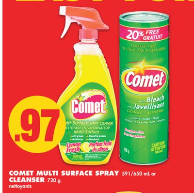 Comet Multi Surface Spray 591/650 mL or Cleanser 720 g