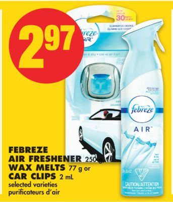 Febreze Air Freshener - 250 g - Wax Melts - 77 g or Car Clips - 2 mL