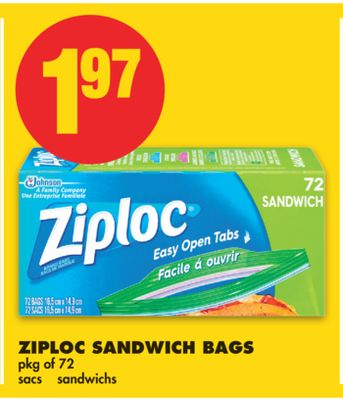 Ziploc Sandwich Bags - Pkg of 72