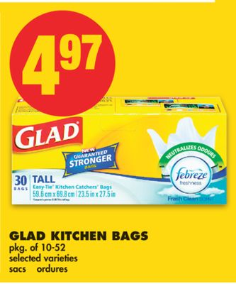 Glad Kitchen Bags - Pkg of 10-52
