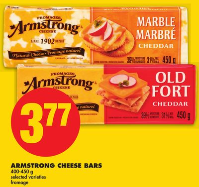Armstrong Cheese Bars - 400-450 g