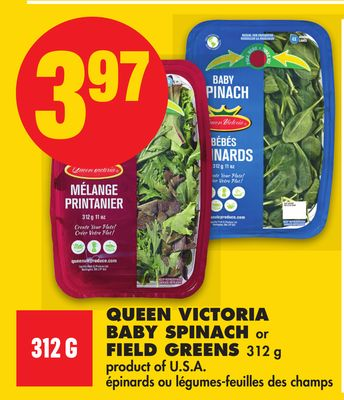 Queen Victoria Baby Spinach or Field Greens - 312 g