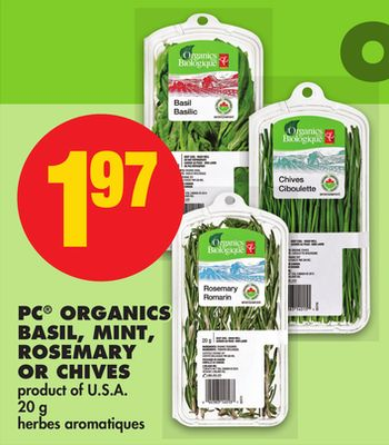 PC Organics Basil - Mint - Rosemary Or Chives - 20 g