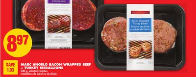 Marc Angelo Bacon Wrapped Beef or Turkey Medallions - 340 g