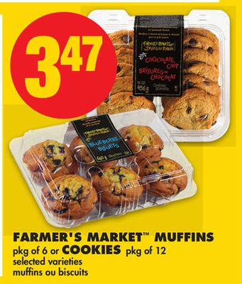 Farmer's Market Muffins - Pkg of 6 or Cookies - Pkg of 12