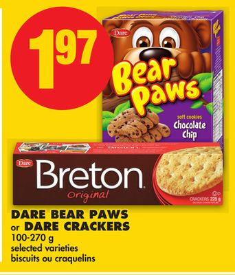 Dare Bear Paws or Dare Crackers - 100-270 g