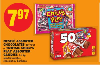 Nestlé Assorted Chocolates - 50/70 Ct or Tootsie Child's Play Assorted Candies - 1.3 Kg