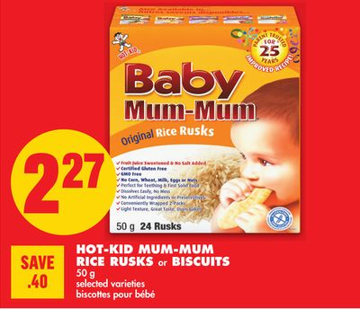 Hot-kid Mum-mum Rice Rusks or Biscuits - 50 g