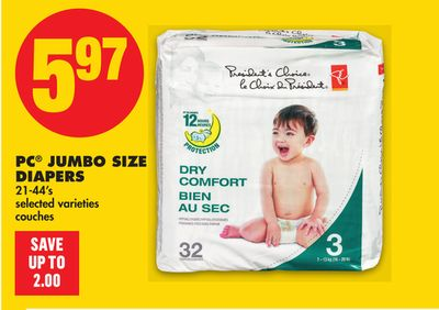 PC Jumbo Size Diapers - 21-44's
