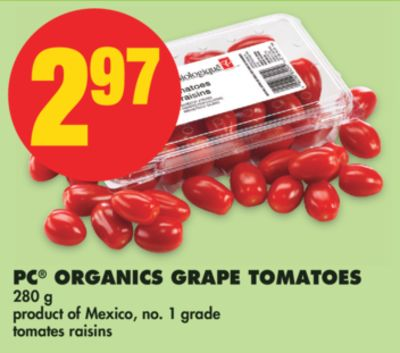PC Organics Grape Tomatoes - 280 g