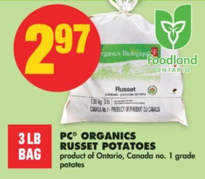 PC Organics Russet Potatoes - 3 Lb Bag