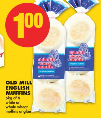Old Mill English Muffins .Pkg of 6