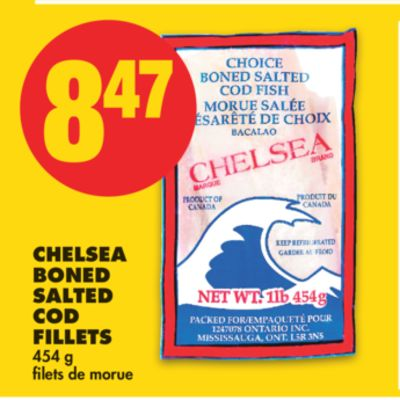 Chelsea Boned Salted Cod Fillets - 454 g