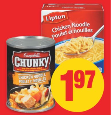 Campbell's Chunky - Everyday or Healthy Gourmet Soup - 500/540 mL