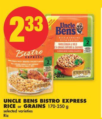 Uncle Bens Bistro Express Rice or Grains - 170-250 g