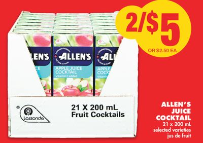 Allen's Juice Cocktail - 21 X 200 mL