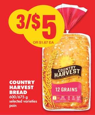 Country Harvest Bread - 600/675 g