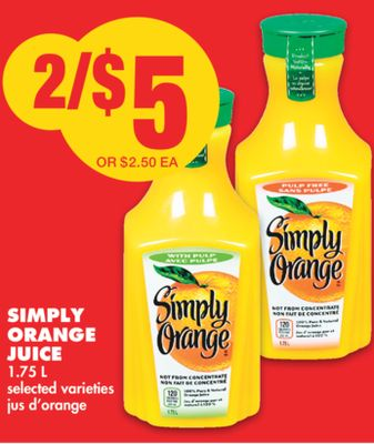 Simply Orange Juice - 1.75 L