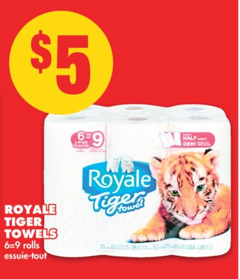 Royale Tiger Towels - 6=9 Rolls