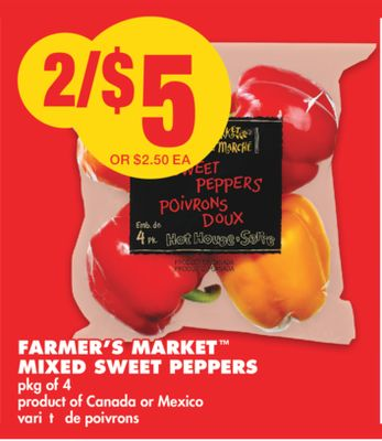 Farmer's Market Mixed Sweet Peppers Pkg of 4
