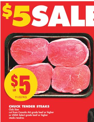 Chuck Tender Steaks