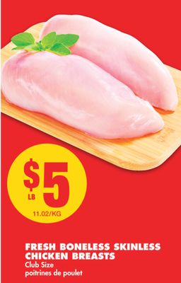 Fresh Boneless Skinless Chicken Breasts