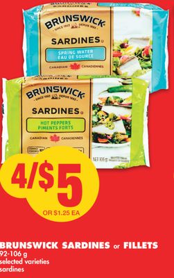 Brunswick Sardines or Fillets 92-106 g