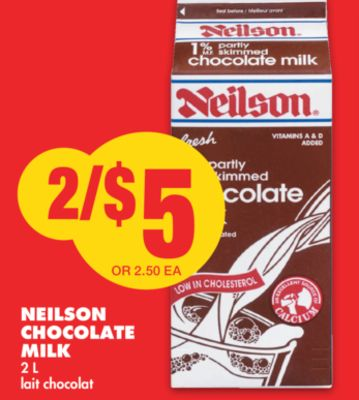Neilson Chocolate Milk - 2 L