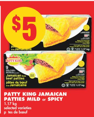 Patty King Jamaican Patties Mild or Spicy - 1.17 Kg