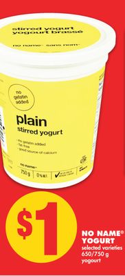 No Name Yogurt - 650/750 g