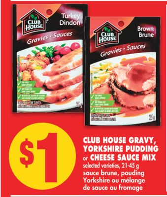 Club House Gravy - Yorkshire Pudding or Cheese Sauce Mix - 21-45 g