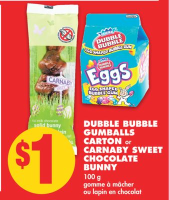 Dubble Bubble Gumballs Carton or Carnaby Sweet Chocolate Bunny - 100 g