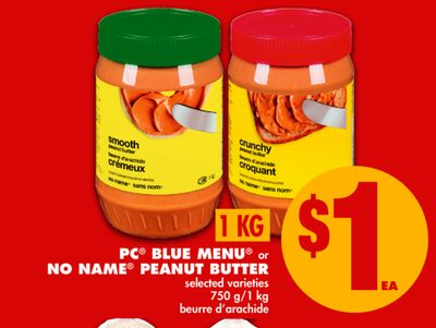 PC Blue Menu or No Name Peanut Butter - 750 G/1 Kg