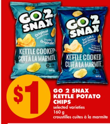 Go 2 Snax Kettle Potato Chips - 160 g
