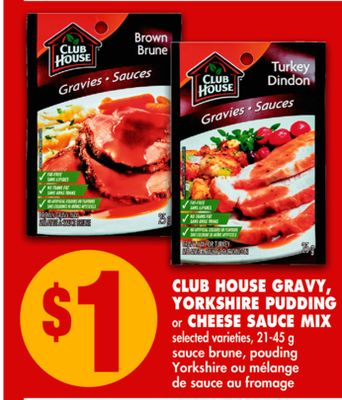 Club House Gravy - Yorkshire Pudding or Cheese Sauce Mix - 21-45g