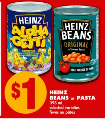 Heinz Beans or Pasta - 398 mL